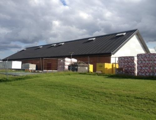 Præstemarkhallen i Søften ved Hinnerup fik ny tagdækning
