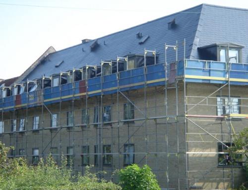 Tagrenovering af større ejendom i Søborg