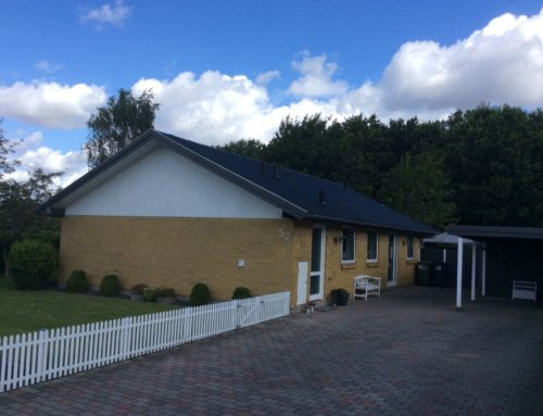 Villaen i Skive fik renoveret det eksisterende tag.