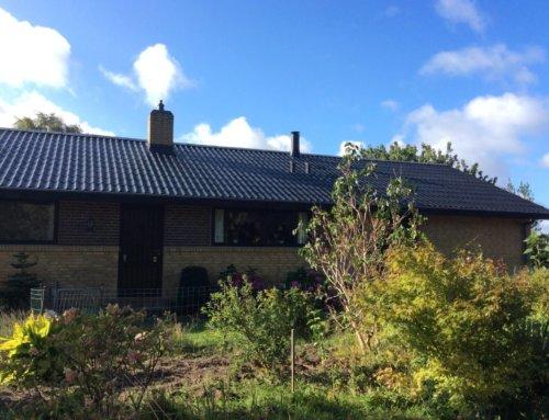Villaen i Otterup på Fyn fik renoveret det eksisterende tag.