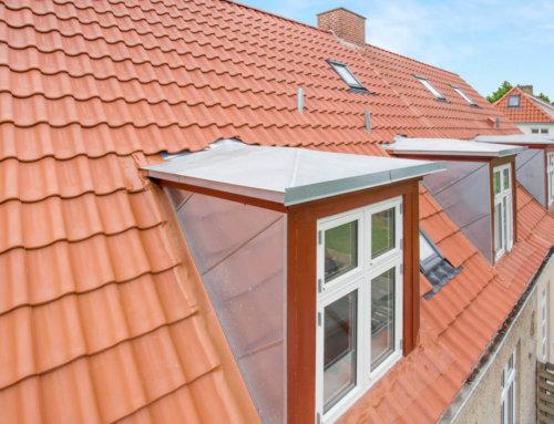 Villa i Brønshøj med nyt tegl tag og zink på kvist