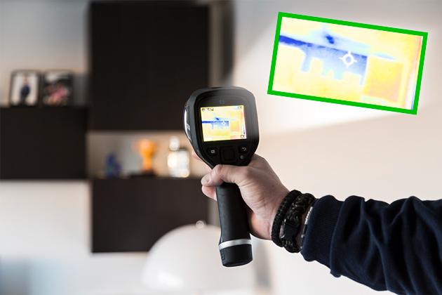 Jydsk Tagteknik kan bruge termografikamera til at undersøge hulmursisoleringens stand