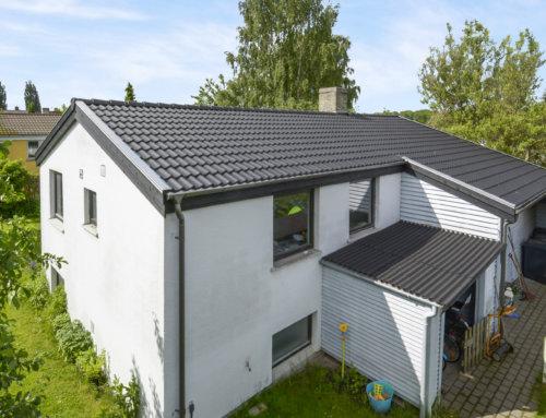 Let betonteglsten på villa i Rødovre