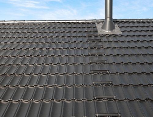 Nye stigetrin på taget, samt ny rundskorstensinddækning.